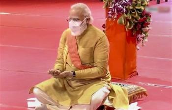 PM Narendra Modi in Ayodhya for Bhumi Pujan of Ram Mandir