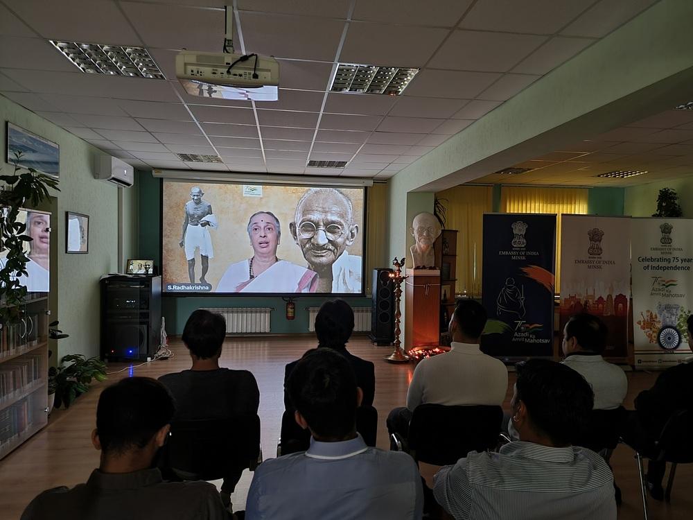 Celebration of Gandhi Jayanti at Embassy of India, Minsk 2021